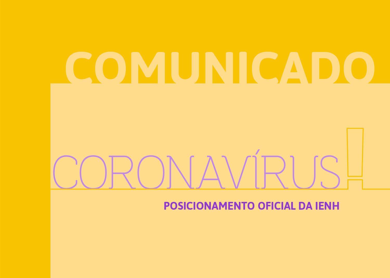 Comunicado - IENH suspende aulas