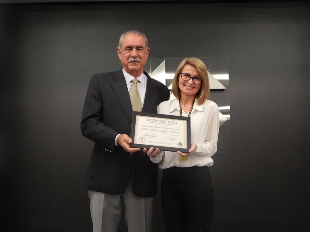 """IENH recebe certificado ouro no Projeto """"Empresa Amiga do Meio Ambiente"""" da FUNDAMENTAL"""