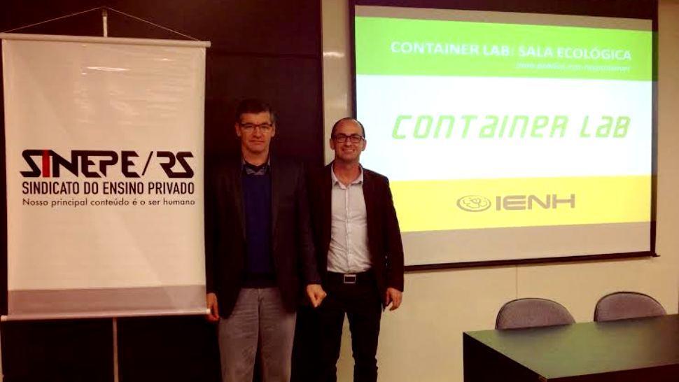 """Projeto """"Container Lab: Sala Ecológica"""" é defendido no Prêmio Responsabilidade Social do SINEPE"""