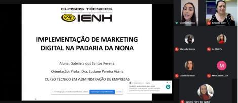 Bancas de TCC dos Cursos Técnicos IENH ocorre de forma on-line