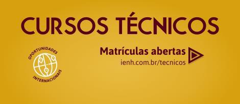 Bolsas de Estudo para os Cursos Técnicos com inscrições abertas na IENH