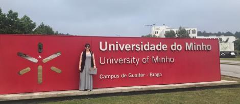 Em Portugal, acadêmica da Faculdade IENH apresenta artigo desenvolvido a partir do TCC